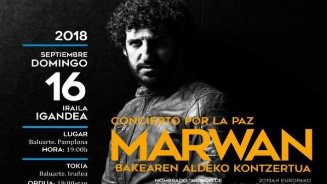 Artel anunciador del concierto por la paz.