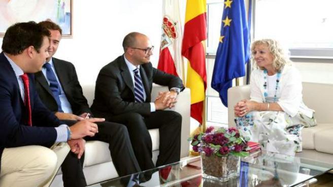 Díaz Tezanos se reúne con el presidente de Hispanic American College