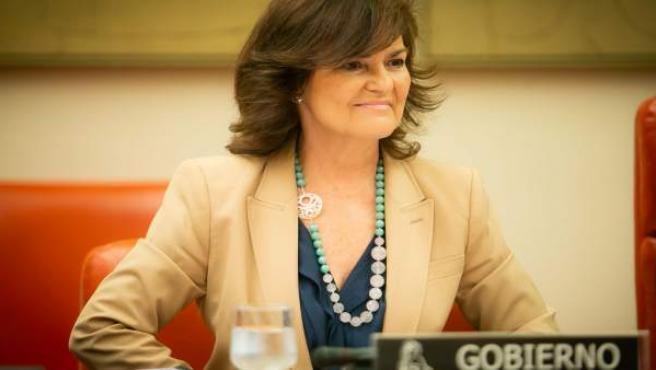 Carmen Calvo, vicepresidenta del Govern en imatge d'arxiu