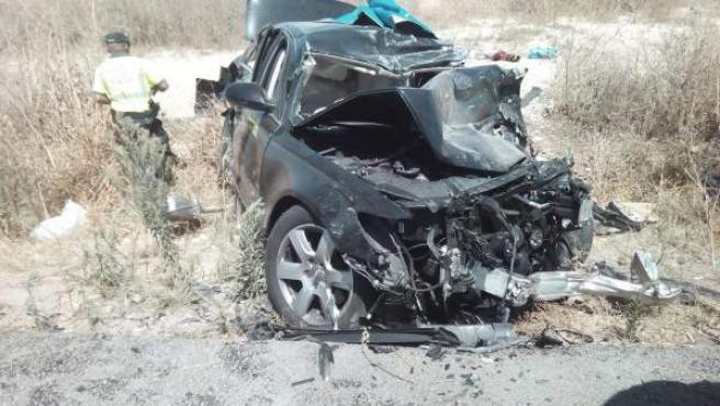 Vehículo implicado en el accidente mortal en la N-IV en Dos Hermanas