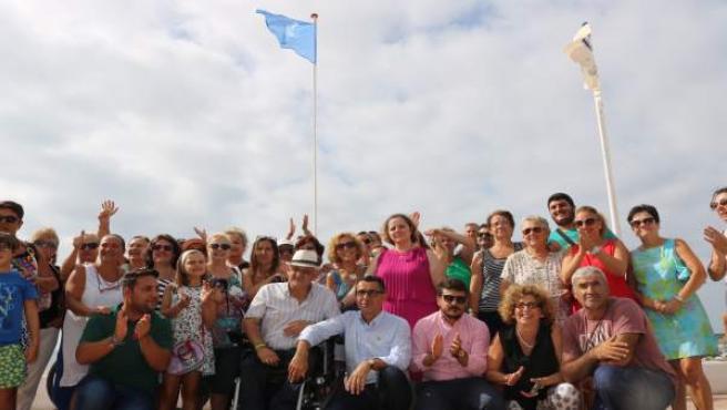 Bandera de la accesibilidad en la Playa del Carmen