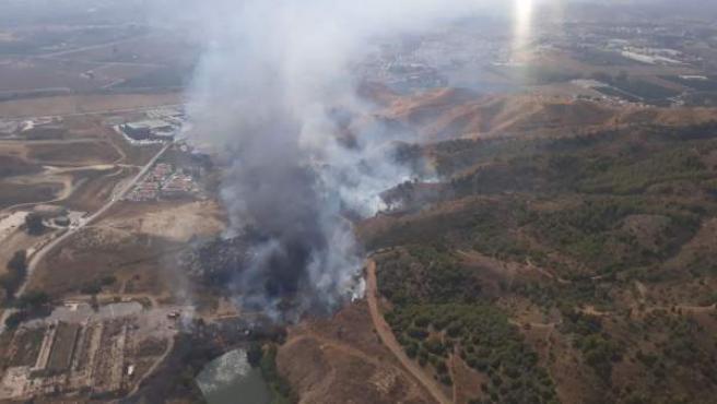 Incendio forestal en Los Asperones (Málaga)