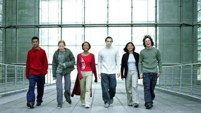 Un grupo de jóvenes 'millenials'.