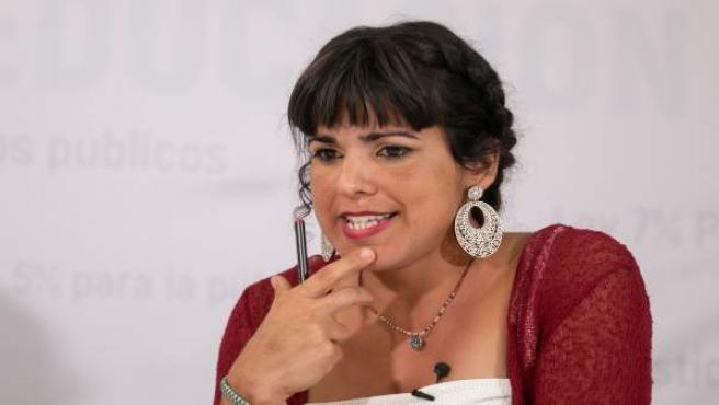 La portavoz del grupo parlamentario Podemos Andalucía, Teresa Rodríguez
