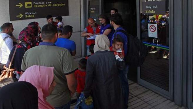 Refugiados sirios llegan a España.