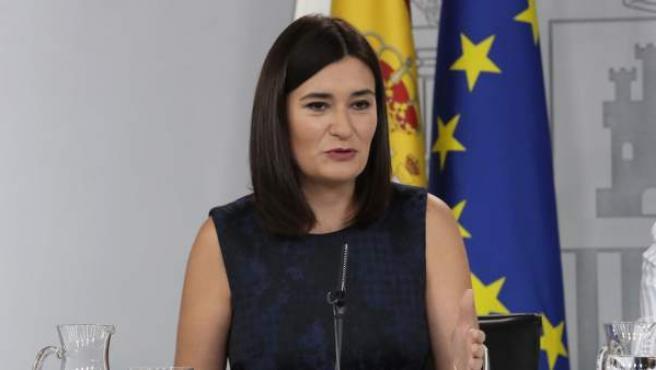 Carmen Montón, tras el Consejo de Ministros.