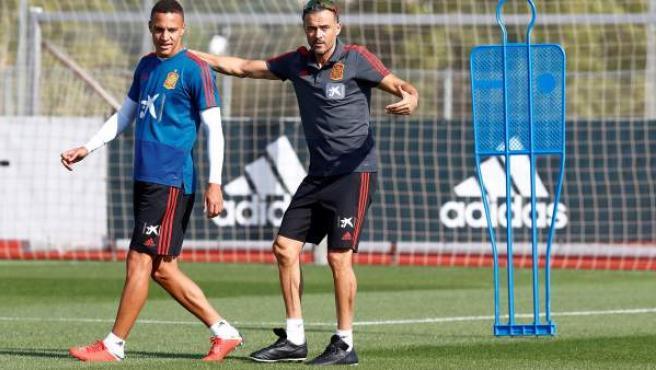 Una imagen de un entrenamiento de la selección española.