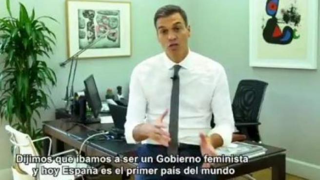 El presidente del Gobierno, Pedro Sánchez, hace balance de sus 100 primeros días como jefe del Ejecutivo.