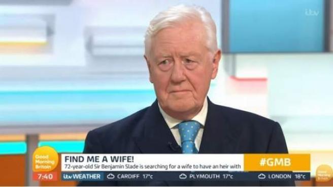 Sir Benjamin Slade, el multimillonario británico que busca esposa.