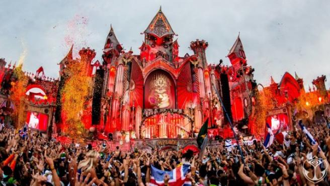 Imagen del Festival Tomorrowland en su edición de 2015, en Boom (Bélgica).