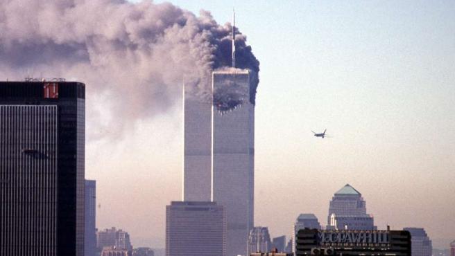 Imagen de archivo del atentado contra las Torres Gemelas, el 11 de septiembre de 2001.