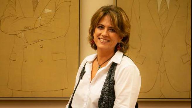 Dolores Delgado, ministra de Justicia, en el Congreso.