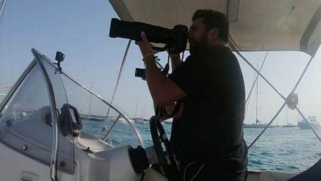 El paparazzi Sergio Garrido en acción.