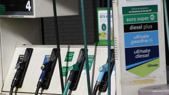 Una estación de servicio para repostar carburante.
