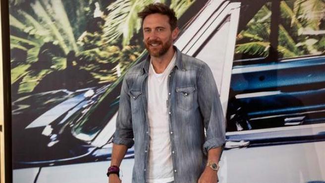 El DJ francés David Guetta, durante la presentación de su nuevo álbum de estudio, '7', en Madrid.