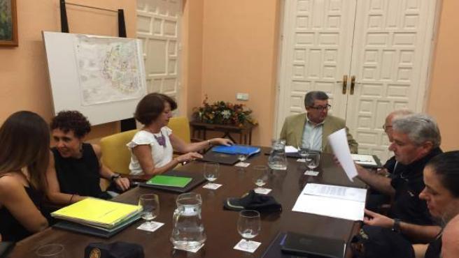 Reunión del grupo operativo de seguridad del Polígono Sur