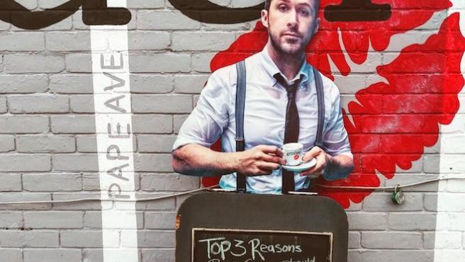¿Por qué visitó Ryan Gosling este café de Toronto? Por un recortable de cartón