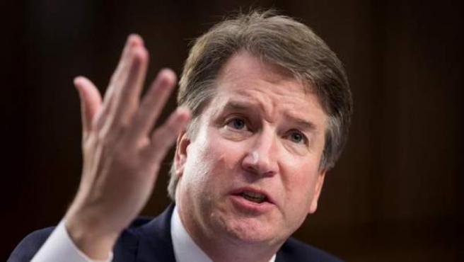 El juez Brett Kavanaugh, durante su comparecencia ante el Comité Judicial del Senado sobre su nominación para ser juez asociado de la Corte Suprema de los EE UU.