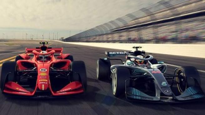 Dos de los nuevos diseños que han presentado en la F1 para los próximos monoplazas a partir de 2021.