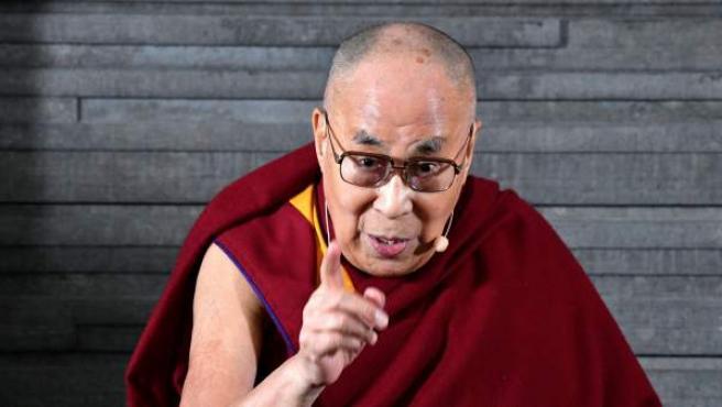 El líder espiritual tibetano, el Dalai Lama, durante una conferencia en Malmo (Suecia).