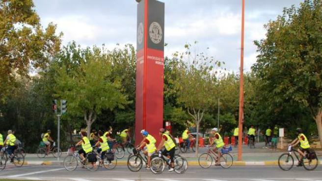 Subida bicileta o patines al Campus de Espinardo
