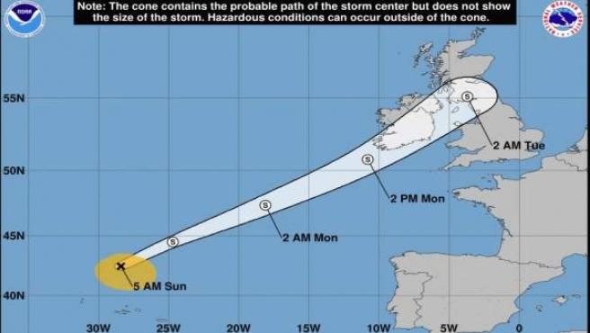 Trayectoria del ciclón tropical 'Helene'