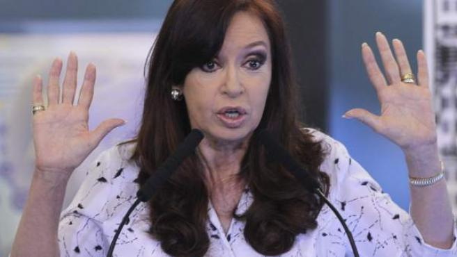 La expresidenta argentina, Cristina Fernández, en una imagen de archivo.