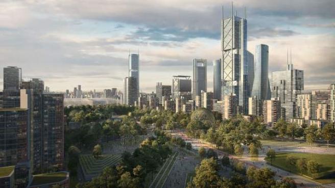 El nuevo centro financiero albergará el rascacielos más alto de España.