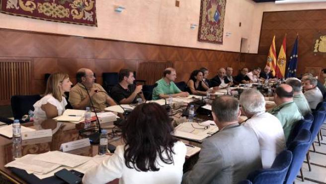 Reunión de la Junta Local de Seguridad, celebrada hoy en la Delegación