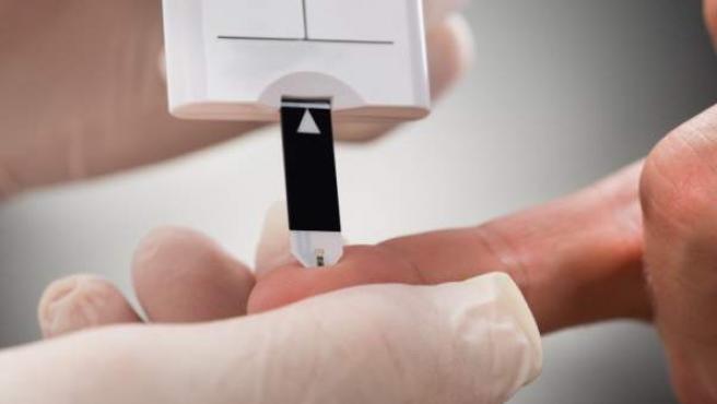 pinchazo de sangre para la diabetes