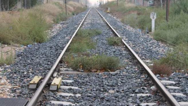 Imagen de la vía de un tren.