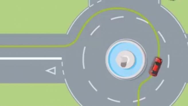 La Guardia Civil ha lanzado un gráfico en Twitter en el que explica cómo hay tomar una rotonda.