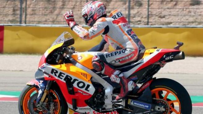 Marc Márquez, en el GP de Aragón.