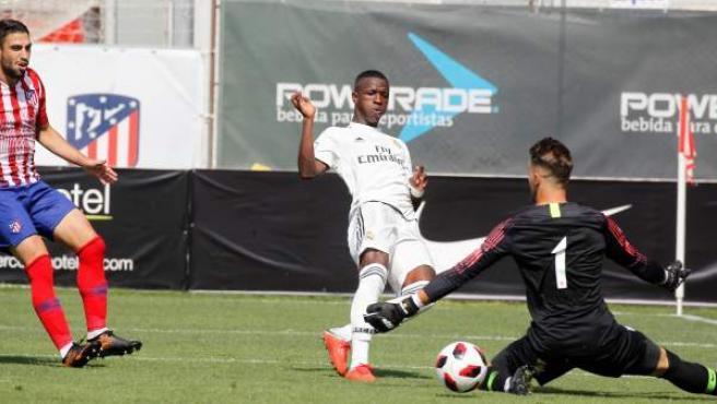 Vinícius Junior, en el partido contra el filial del Atlético de Madrid.