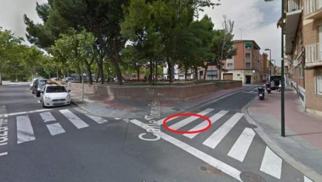 Cruce de las calles Embarcadero y Tomás Pelayo de Zaragoza.