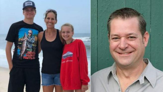 Montaje fotográfico de Michael Hunn, el padre de Indiana que ha asesinado a sus hijos Harrison y Shelby (a la derecha, con su madre, Stephanie Reece), y posteriormente se ha quitado la vida.