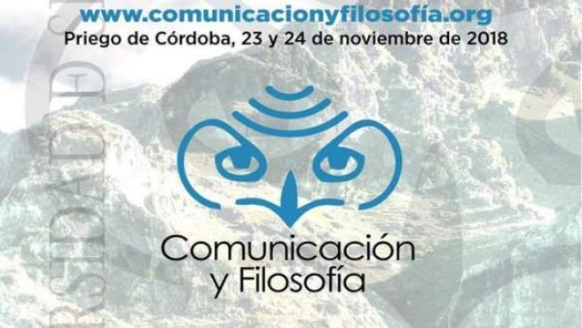 Cartel del I Congreso Internacional de Comunicación y Filosofía