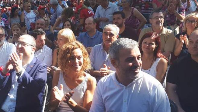 Ábalos, Iceta, Batet y Collboni en la Festa de la Rosa.