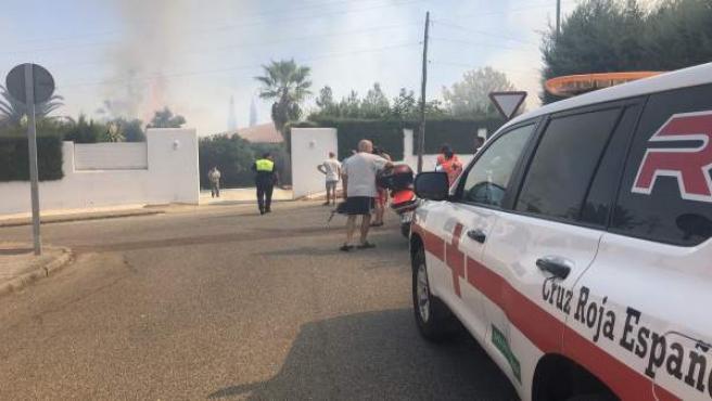 Incendio en Las Vaguadas de Badajoz