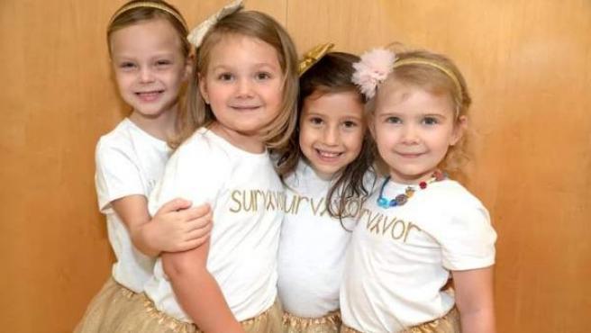 Cuatro niñas que superaron un cáncer.