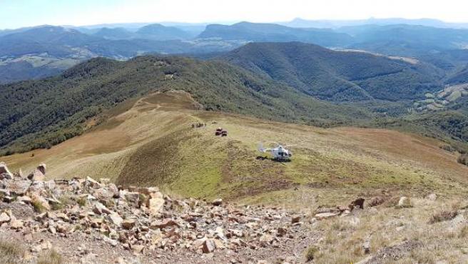 Fallece un hombre de 74 años al caerse en el monte Adi