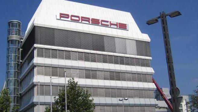 Imagen de la sede central de Porsche, en Stuttgart, Alemania.