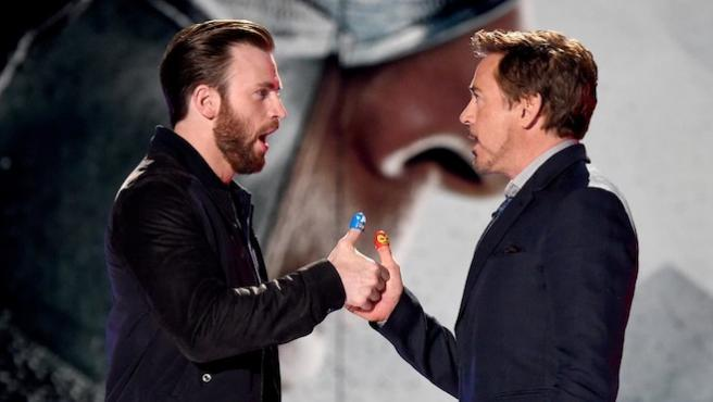 ¿'Bambi' o 'Toy Story'? Nueva guerra de trolleos entre Chris Evans y Robert Downey Jr. en Twitter
