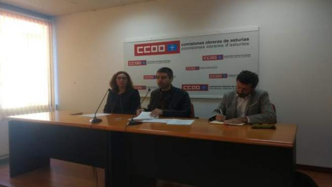 Rueda de prensa de CCOO sobre educación.
