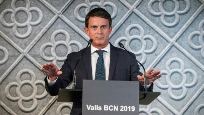 Valls en el Centro de Cultura Contemporánea de Barcelona (CCCB), en el que ha anunciado su intención de optar a la alcaldía de Barcelona en las elecciones municipales de 2019.