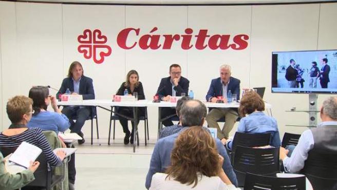 """Cáritas alerta de que la desigualdad se """"enquista"""" en España"""