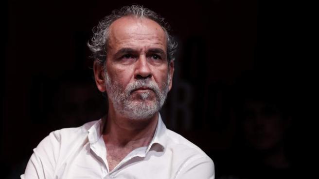 Willy Toledo, en una rueda de prensa en Madrid en junio de 2018.