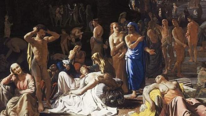 Imagen del cuadro 'Plaga en una ciudad antigua', por Michael Sweerts (1652).
