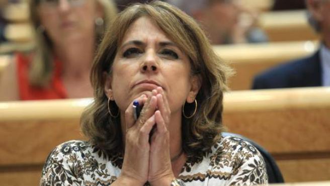 La ministra de Justicia, Dolores Delgado, en el Senado.