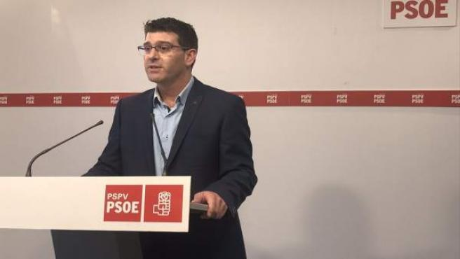 Jorge Rodríguez en la roda de premsa en imatge d'arxiu